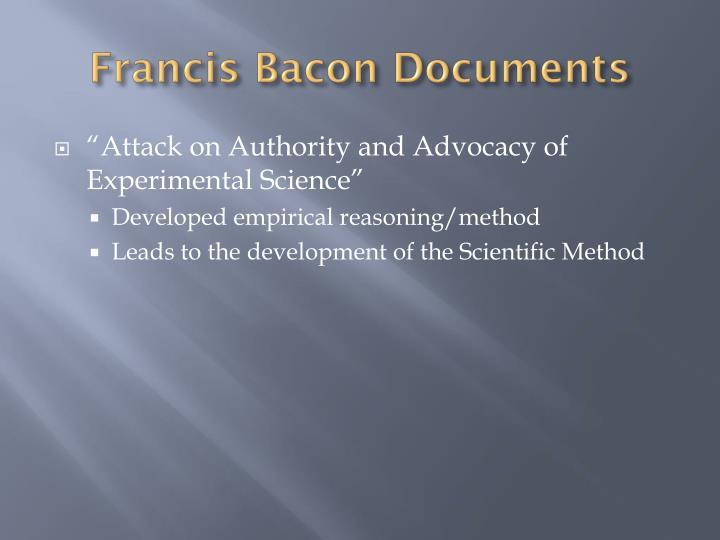 Francis Bacon Documents