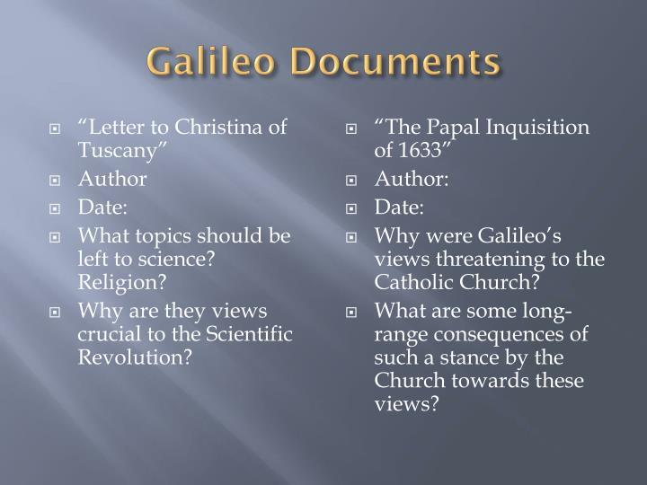 Galileo Documents