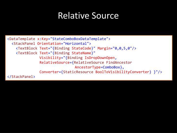 Relative Source