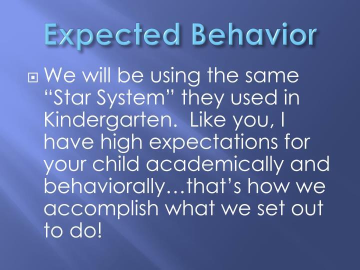 Expected Behavior