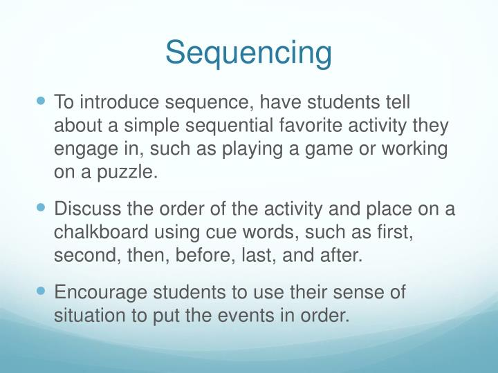 Sequencing1