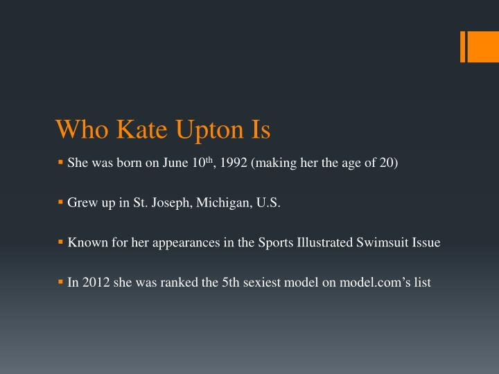 Who Kate Upton Is