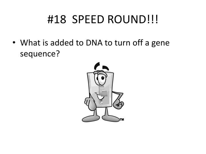 #18  SPEED ROUND!!!