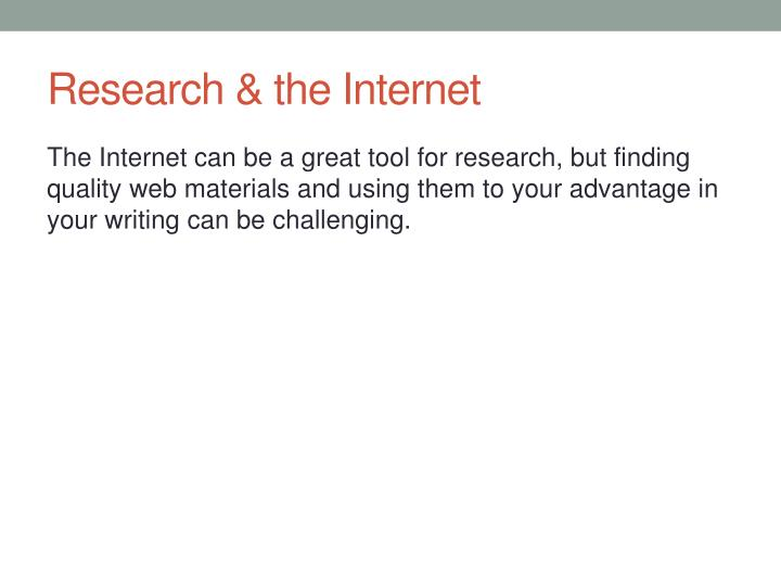 Research & the Internet