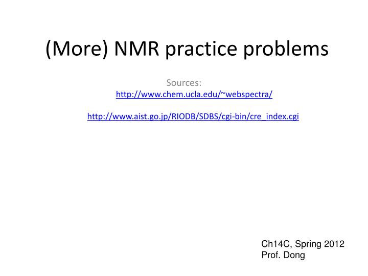 more nmr practice problems