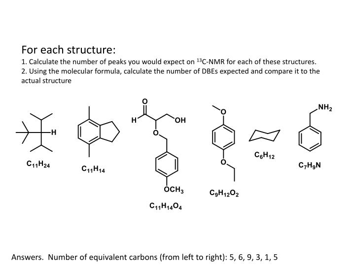 For each structure: