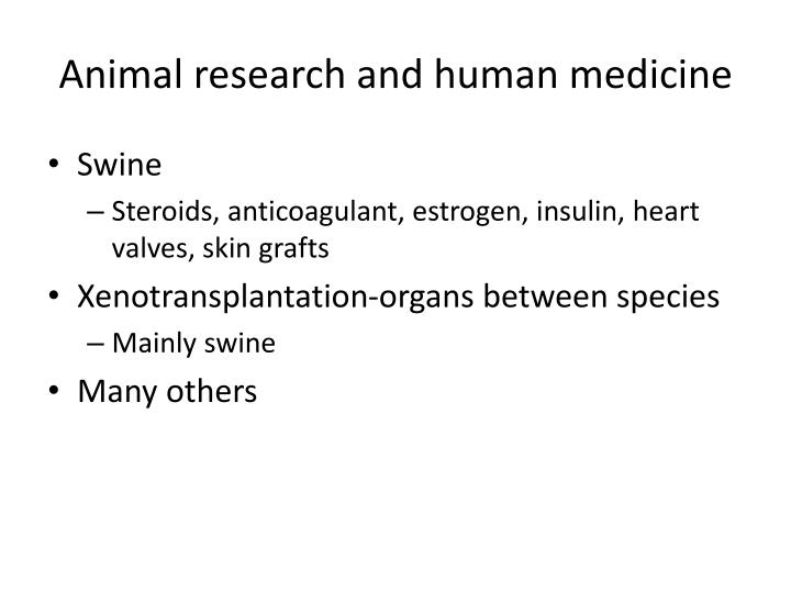 Animal research and human medicine