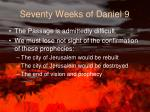 seventy weeks of daniel 9