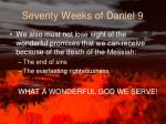 seventy weeks of daniel 91
