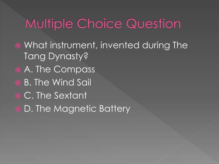 Multiple Choice Question
