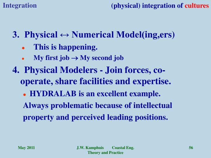 (physical) integration of
