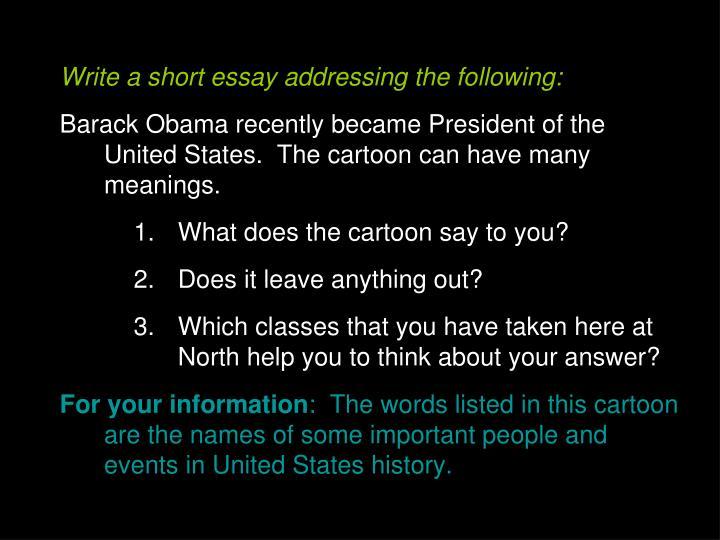 Write a short essay addressing the following: