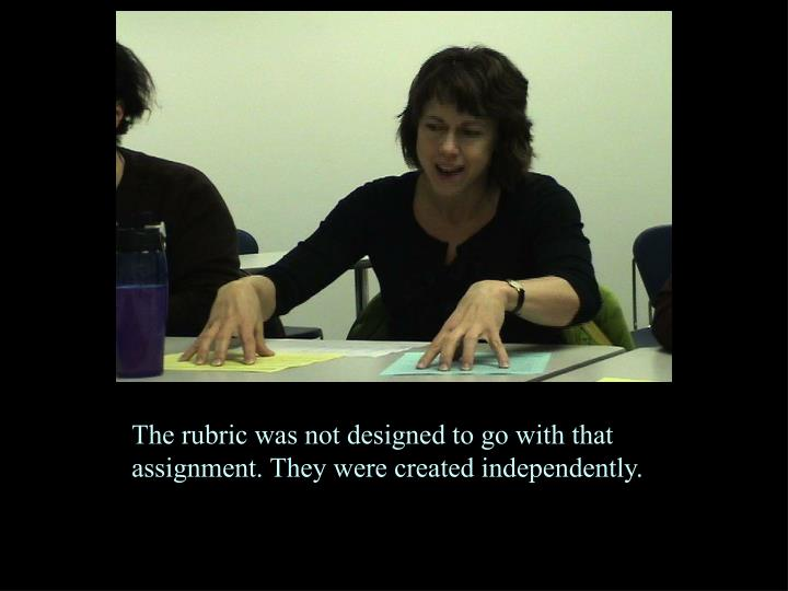 The rubric was not designed to go with that assignment. They were created independently.