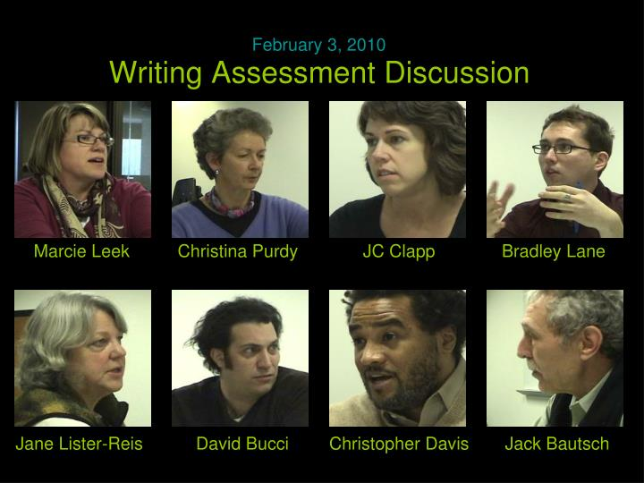 Writing Assessment Discussion