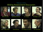 writing assessment discussion1