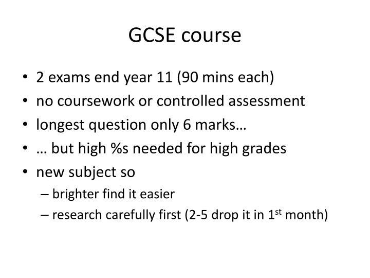 GCSE course
