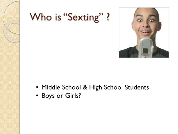 """Who is """"Sexting"""" ?"""