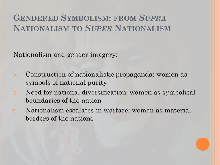Gendered Symbolism: from