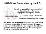 mhd wave generation by the pej