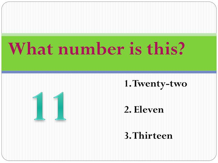 What number is this?