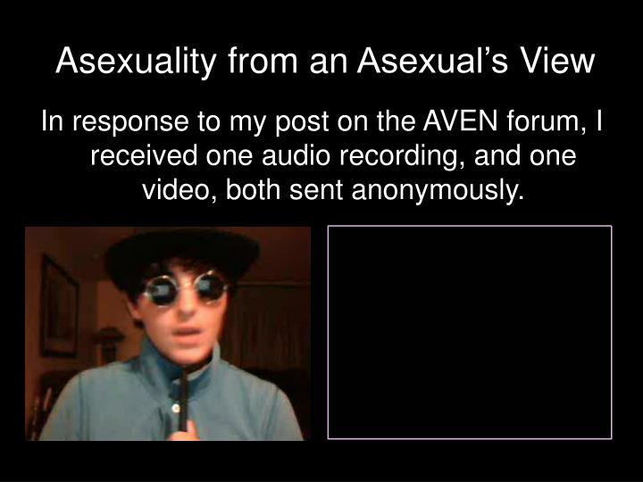 Asexuality from an