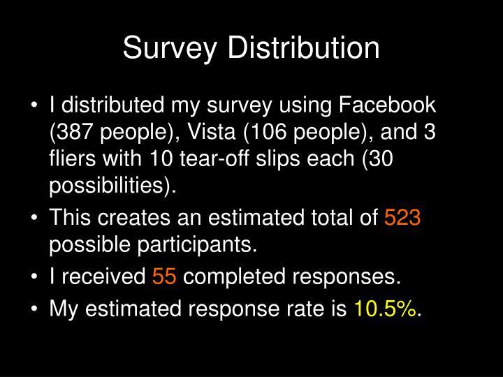 Survey Distribution