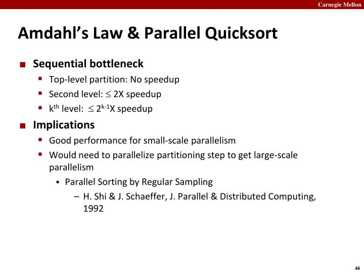 Amdahl's Law & Parallel