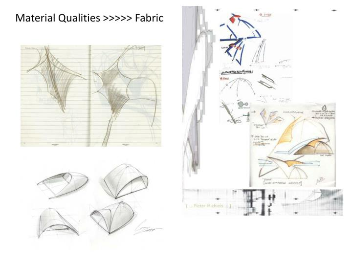 Material Qualities >>>>> Fabric