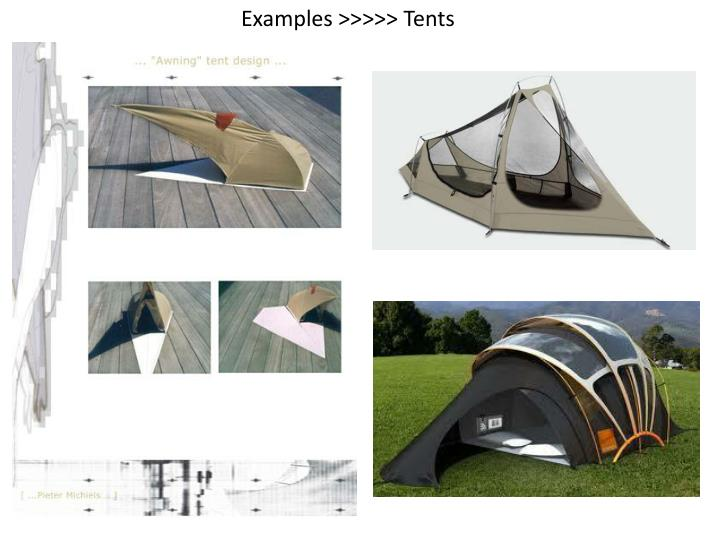 Examples >>>>> Tents