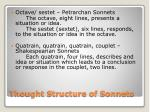 thought structure of sonnets