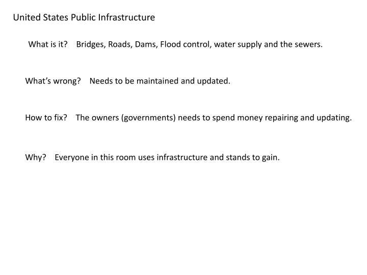 United States Public Infrastructure