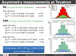 asymmetry measurements at tevatron
