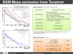 bsm mass exclusion from tevatron