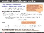 massive gluon diff cross section