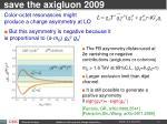 save the axigluon 2009