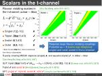 scalars in the t channel