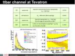 ttbar channel at tevatron
