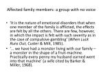 affected family members a group with no voice