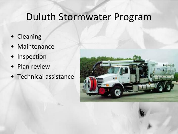 Duluth Stormwater Program