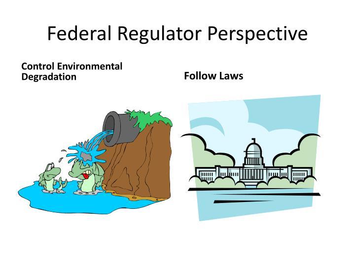 Federal Regulator Perspective
