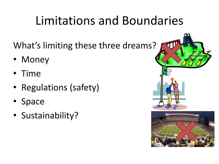 Limitations and Boundaries