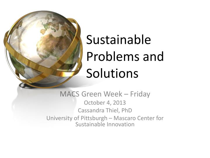 sustainable problems and solutions