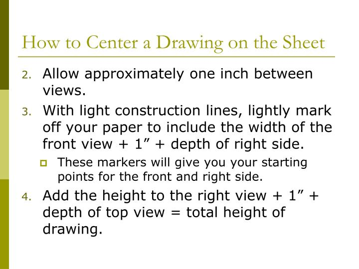 How to Center a Drawing on the Sheet