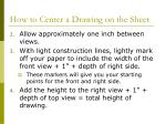 how to center a drawing on the sheet1