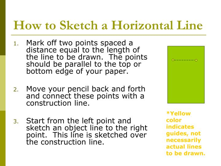 How to Sketch a Horizontal Line