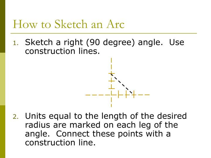 How to Sketch an Arc