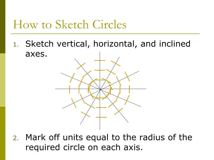 How to Sketch Circles