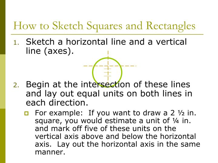 How to Sketch Squares and Rectangles