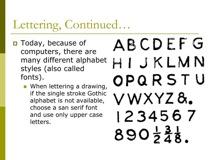 Lettering, Continued…