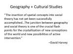 geography cultural studies